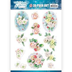 SB10491 - Uitdrukvel - Jeanines Art- The colours of winter - Pink winter flowers
