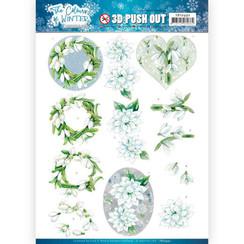 SB10492 - Uitdrukvel - Jeanines Art- The colours of winter - White winter flowers