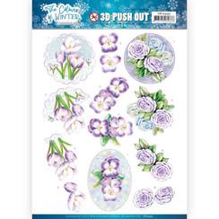 SB10493 - Uitdrukvel - Jeanines Art- The colours of winter - Purple winter flowers