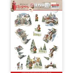 SB10482 - Uitdrukvel - Amy Design - Nostalgic Christmas - Christmas Village