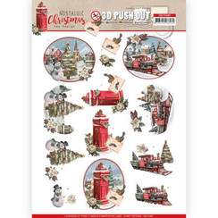 SB10485 - Uitdrukvel - Amy Design - Nostalgic Christmas - Christmas Train