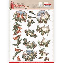 CD11560 - 10 stuks knipvellen - Amy Design - Nostalgic Christmas - Christmas Birds