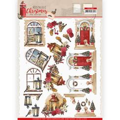 CD11561 - HJ18701 - 10 stuks knipvellen - Amy Design - Nostalgic Christmas - Warm Christmas