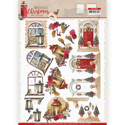Amy Design CD11561 - HJ18701 - 10 stuks knipvellen - Amy Design - Nostalgic Christmas - Warm Christmas