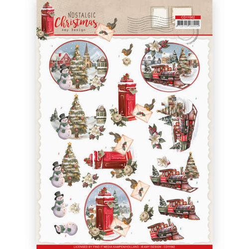 Amy Design CD11562 - 10 stuks knipvellen - Amy Design - Nostalgic Christmas - Christmas Train