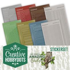 CHSTS006 - Creative Hobbydots 6 - Amy Design - Amazing Owls - Sticker Set
