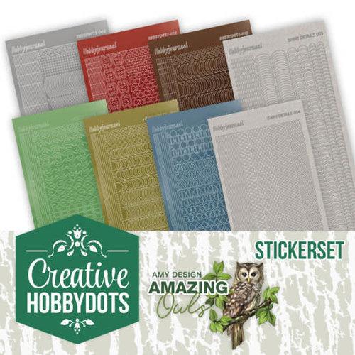 Amy Design CHSTS006 - Creative Hobbydots 6 - Amy Design - Amazing Owls - Sticker Set