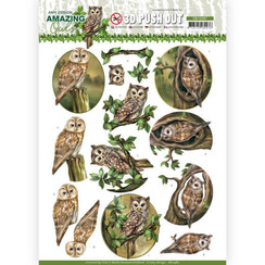 SB10487 - Uitdrukvel - Amy Design - Amazing Owls - Forest Owls