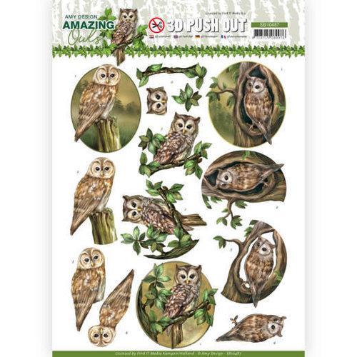 Amy Design SB10487 - Uitdrukvel - Amy Design - Amazing Owls - Forest Owls