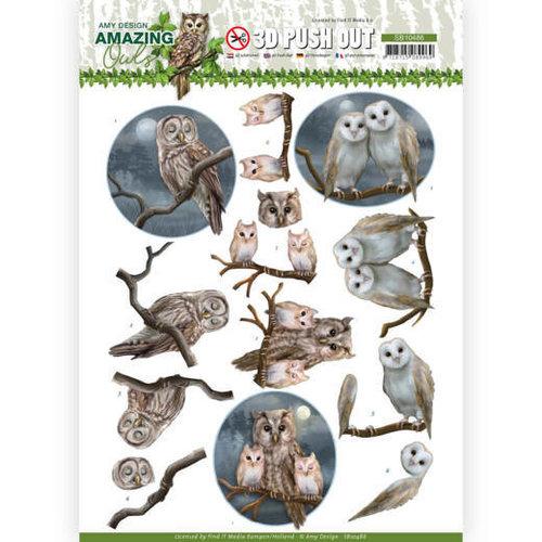 Amy Design SB10486 - Uitdrukvel - Amy Design - Amazing Owls - Night Owls