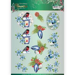 CD11557 - 10 stuks knipvellen - Jeanines Art  Christmas Flowers - Christmas Lantern