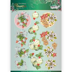 CD11556 - 10 stuks knipvellen - Jeanines Art  Christmas Flowers - Christmas Bells