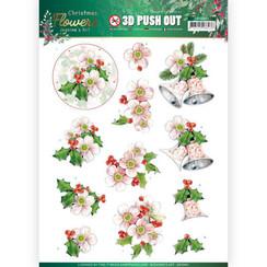 SB10481 - Uitdrukvel - Jeanines Art  Christmas Flowers - Pink Christmas Flowers
