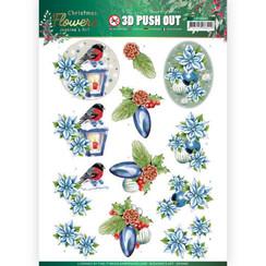 SB10480 - Uitdrukvel - Jeanines Art  Christmas Flowers - Christmas Lantern