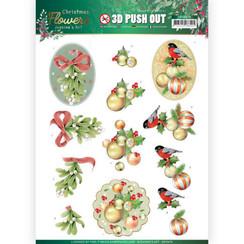 SB10478 - Uitdrukvel - Jeanines Art  Christmas Flowers - Mistle Toe