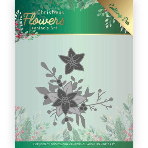 Jeanines Art JAD10107 - Mal - Jeanines Art  Christmas Flowers - Poinsettia Corner