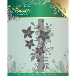 JAD10105 - Mal - Jeanines Art  Christmas Flowers - Poinsettia Border
