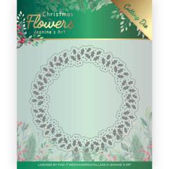 JAD10103 - Mal - Jeanines Art  Christmas Flowers - Holly Christmas Wreath