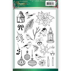 JACS10033 - Stempel - Jeanines Art  Christmas Flowers