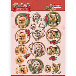 CD11529 - 10 stuks knipvellen - Amy Design - Christmas Pets - Christmas dogs