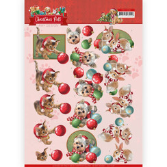 CD11528 - 10 stuks knipvellen - Amy Design - Christmas Pets - Christmas balls