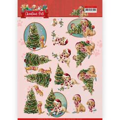 CD11527 - 10 stuks knipvellen - Amy Design - Christmas Pets - Christmas Tree