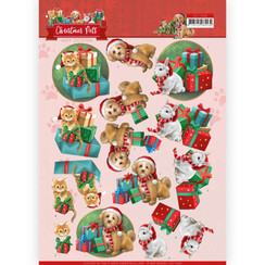 CD11526 - 10 stuks knipvellen - Amy Design - Christmas Pets - Presents