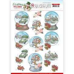 SB10476 - Uitdrukvel - Yvonne Creations - Christmas Village - Christmas Globes