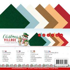 YC-4K-10020 - Linnen karton Pack - 4K - Yvonne Creations - Christmas Village