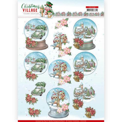 Yvonne Creations CD11542 - HJ18501 - 10 stuks knipvellen - Yvonne Creations - Christmas Village - Christmas Globes