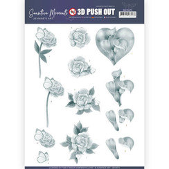 SB10473 - Uitdrukvel - Jeanines Art- Sensitive Moments - Grey Calla Lily
