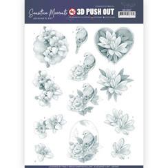SB10467 - Uitdrukvel - Jeanines Art- Sensitive Moments - Grey Rose