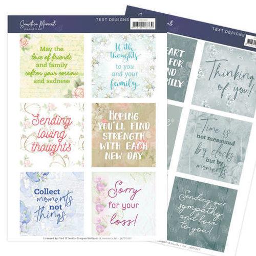 Jeanines Art JATD1002 - Text Designs - Jeanines Art- Sensitive Moments (EN)