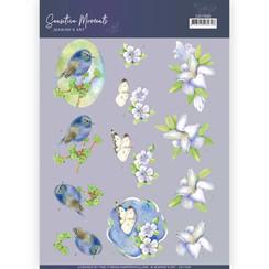 CD11520 - 10 stuks knipvellen - Jeanines Art- Sensitive Moments - Lily