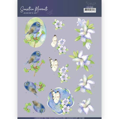 Jeanines Art CD11520 - 10 stuks knipvellen - Jeanines Art- Sensitive Moments - Lily