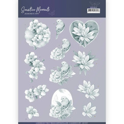 CD11517 - 10 stuks knipvellen - Jeanines Art- Sensitive Moments - Grey Rose