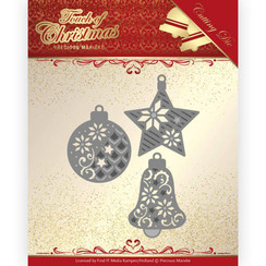 PM10185 - Mal - Precious Marieke - Touch of Christmas - Christmas Baubles