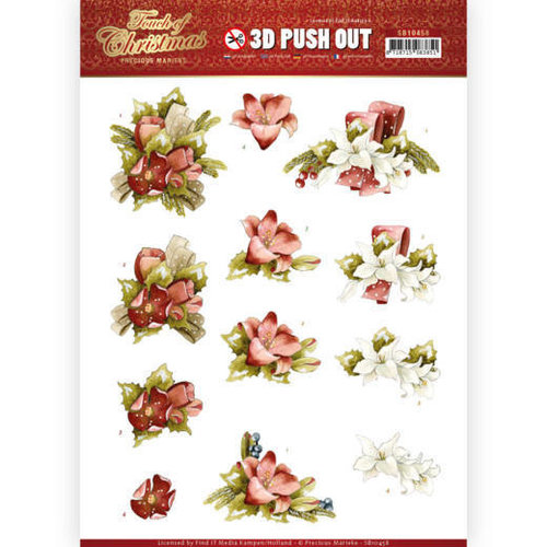 Precious Marieke SB10458 - Uitdrukvel - Precious Marieke - Touch of Christmas - Red Flowers