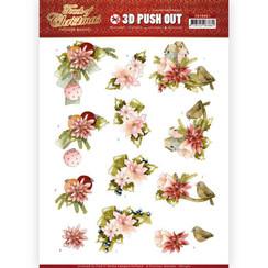 SB10461 - Uitdrukvel - Precious Marieke - Touch of Christmas - Pink Flowers