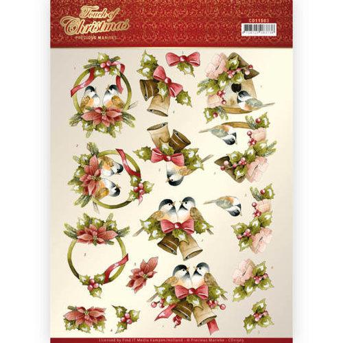 Precious Marieke CD11503 - 10 stuks knipvellen - Precious Marieke - Touch of Christmas - Birds