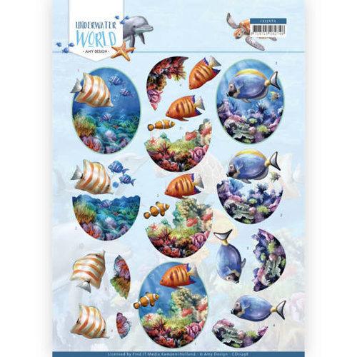 Amy Design CD11498 - 10 stuks knipvellen - Amy Design - Underwater World - Saltwater Fish