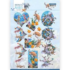 CD11497 - 10 stuks knipvellen - Amy Design - Underwater World - Sea Animals