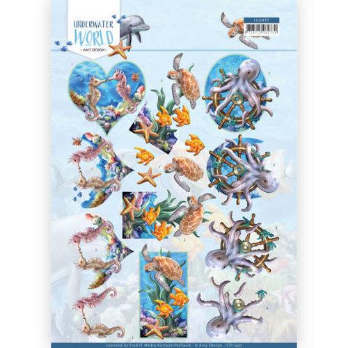 Amy Design CD11497 - 10 stuks knipvellen - Amy Design - Underwater World - Sea Animals
