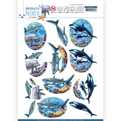SB10457 - Uitdrukvel - Amy Design - Underwater World - Big Ocean Animals