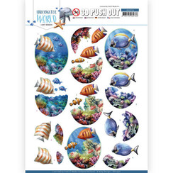 SB10456 - Uitdrukvel - Amy Design - Underwater World - Saltwater Fish