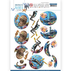 SB10454 - Uitdrukvel - Amy Design - Underwater World - Deepsea Diving