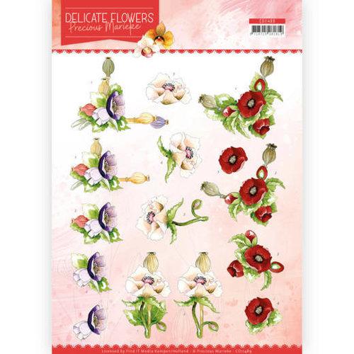 Precious Marieke CD11489 - 10 stuks knipvellen - Precious Marieke - Delicate Flowers - Poppy