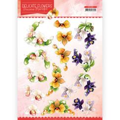 CD11488 - 10 stuks knipvellen - Precious Marieke - Delicate Flowers - Orchid