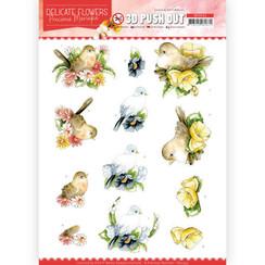 SB10453 - Uitdrukvel - Precious Marieke - Delicate Flowers - Birds