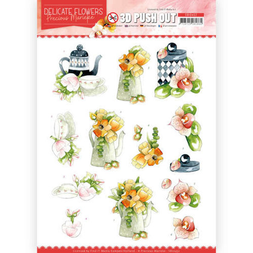 Precious Marieke SB10452 - Uitdrukvel - Precious Marieke - Delicate Flowers - Teapot
